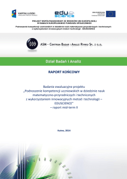 EDUSCIENCE raport mid term_II 2014