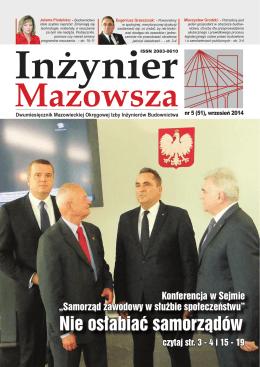 Inżynier Mazowsza - Mazowiecka Izba Inżynierów Budownictwa