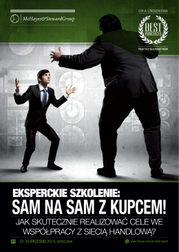 SAM NA SAM Z KUPCEM! - McHayes&StewardGroup