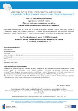 Formularz zgłoszeniowy - PDF