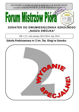 Forum Mistrzów Pióra - Szkoła Podstawowa nr 2 im. Św. Kingi w
