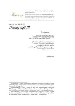 Adam Mickiewicz Dziady cz. III