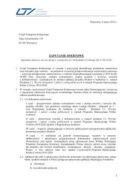 ZAPYTANIE OFERTOWE - BIP - Urząd Transportu Kolejowego
