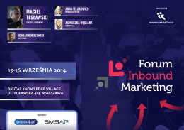 pobierz program - Inbound Marketing Forum