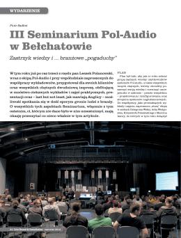 Relacja z III Seminarium w Belchatowie 2013 (LSI) - Pol