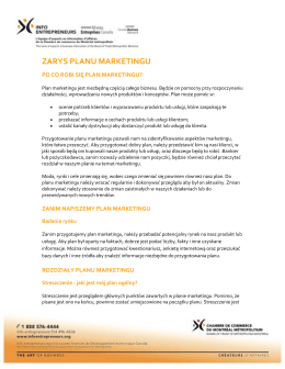 ZARYS PLANU MARKETINGU