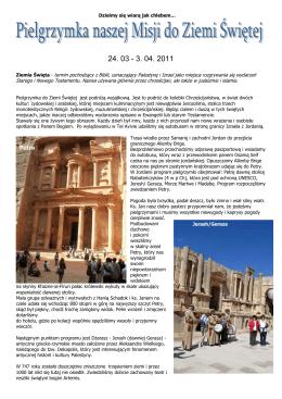 (Pielgrzymka do Ziemi Świętej 2011) Format PDF 1.2