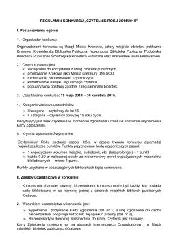 Regulamin konkursu w formacie pdf