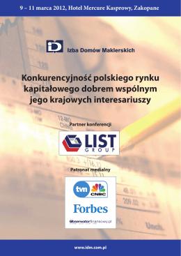 Konkurencyjność polskiego rynku kapitałowego dobrem wspólnym
