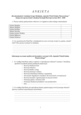 ANKIETA w formacie PDF - Fundacja Sąsiedzi Wokół Szlaku