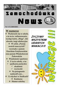 Numer 7 - maj 2011 - Zespół Szkół Ponadgimnazjalnych nr 3 w