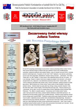 Lipiec - Sierpień - Wrzesień 2013