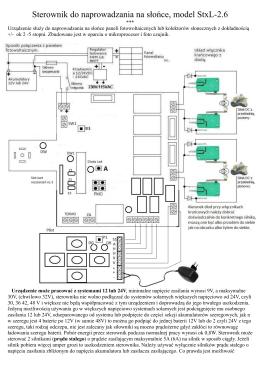 Sterownik do naprowadzania na słońce, model StxL-2.6