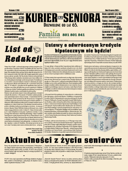 Kuriera dla Seniora - Wydanie 1/2013