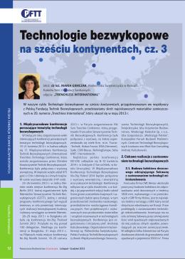 Technologie bezwykopowe na sześciu kontynentach, cz. 3