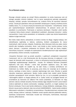 Po co Romom sztuka. - Romska Akademia Mediów