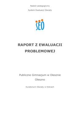 raport gim - Szkoła Podstawowa im. Armii Krajowej w Olesznie
