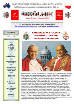 Kanonizacja Stulecia - Jan Paweł II i Jan XXIII ogłoszeni