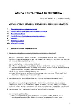 Consultant checklist - ECHA