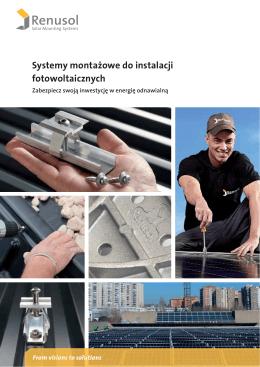Systemy montażowe do instalacji fotowoltaicznych