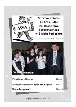 kwiecień - czerwiec 2010 - II Liceum Ogólnokształcące z BJN im