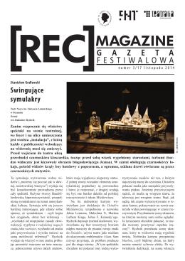 Gazeta festiwalowa dzień trzeci - Teatr im. Wandy Siemaszkowej w