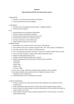 Regulamin - Stowarzyszenie Miechowicka Grupa Biegowa