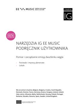NARZĘDZIA IG EE MUSIC PODRĘCZNIK UŻYTKOWNIKA
