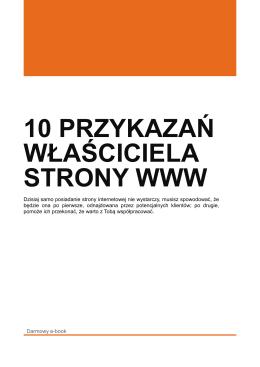 10 Przykazań właściciela strony www