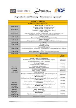 Program Konferencji - Korporacja Absolwentów UEK