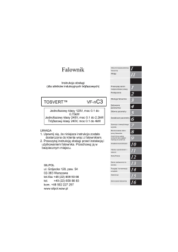 Instrukcja obsługi Toshiba VF NC3