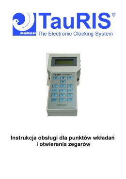 Instrukcja obsługi dla punktów wkładań i otwierania