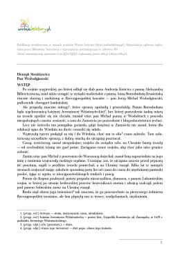 Pan Wołodyjowski - plik pdf