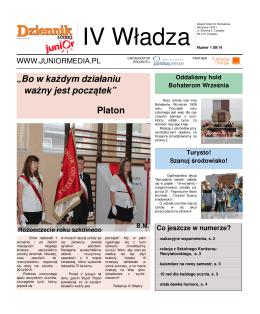 Październik 2014 - Zespół Szkół im. Bohaterów Września 1939 r. w