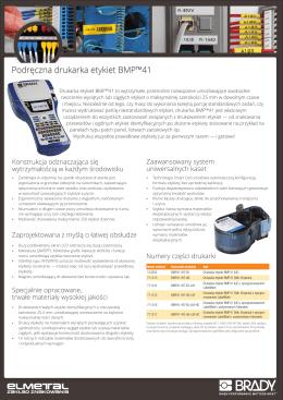 Podręczna drukarka etykiet BMP™41