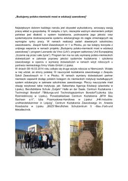 """""""Budujemy polsko-niemiecki most w edukacji"""