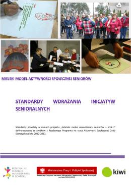 standardy wdrażania programu inicjatyw senioralnych