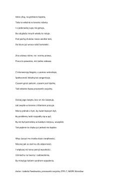 Wiersz o pracowniku socjalnym