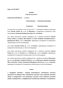 KIO 520/11 - Urząd Zamówień Publicznych