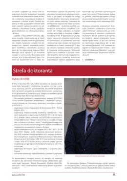 Strefa doktoranta - Uczelniana Rada Samorządu Doktorantów