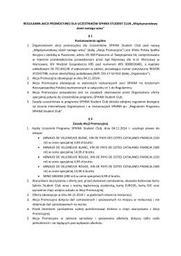 Regulamin promocji