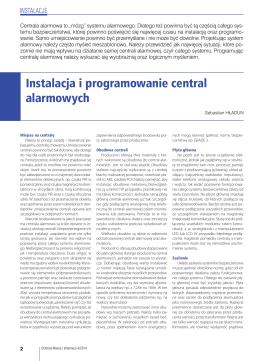 Instalacja i programowanie central alarmowych