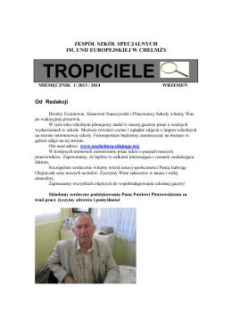 nr 1 - wrzesień.pdf - Zespół Szkół Specjalnych w Chełmży
