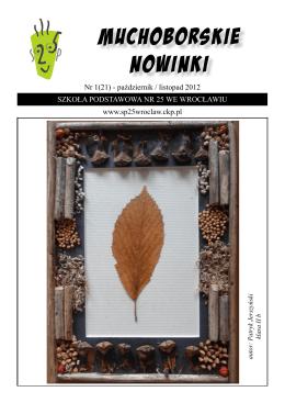 numer 1(21) - Szkoła Podstawowa Nr 25 we Wrocławiu