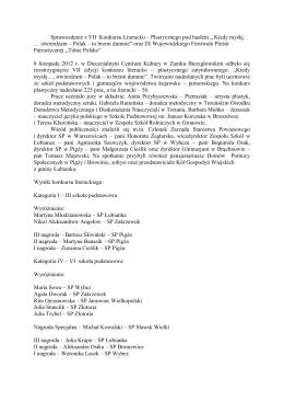 więcej - Zespół Szkół w Łubiance
