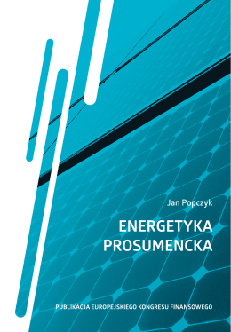 Energetyka prosumencka - European Financial Congress
