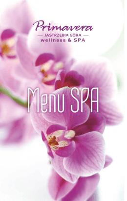 Katalog menu SPA - Primavera Jastrzębia Góra