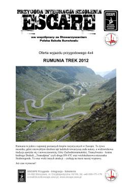 RUMUNIA TREK 2012