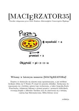 [MACIERZATOR35] - Koło Naukowe Matematyków UŚ