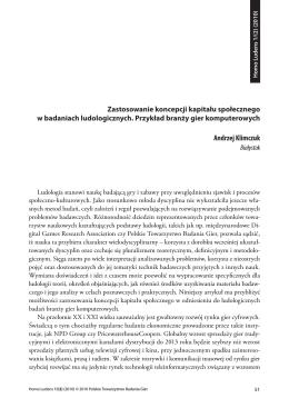 Andrzej Klimczuk - Polskie Towarzystwo Badania Gier